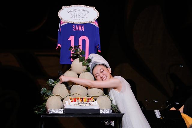 MISIA なでしこJAPAN澤穂希選手と清水ミチコも祝福! 感動に包まれたバースデーライヴを開催!本日(7/8)話題の最新曲も配信スタートに!